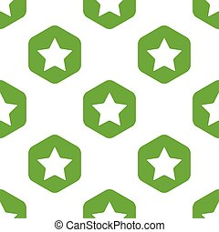 Star pattern - Vector image of star in hexagon, repeated on...