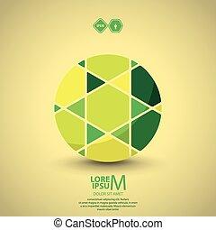 Segmented circle, vector