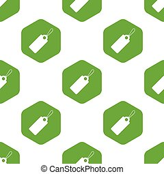 String tag pattern - Image of string tag in hexagon,...