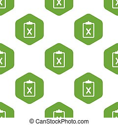 Refusal on paperclip pattern - Vector paperclip with cross...