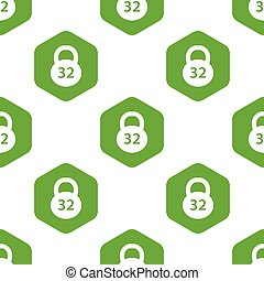 Dumbbell pattern - Vector image of dumbbell and number 32 in...