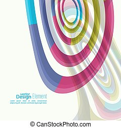 Abstract background with colored Hypnosis shape For cover...
