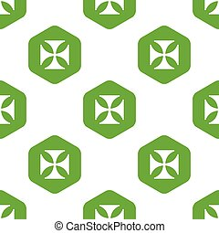Maltese cross pattern - Vector maltese cross in hexagon,...