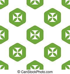 Maltese cross pattern - Vector maltese cross in hexagon,...