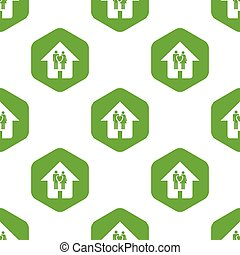 Family house pattern