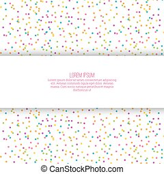 Abstract background with multicolored confetti festive Empty...