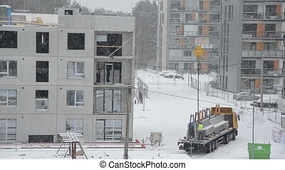 snow fall construction
