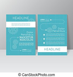 Vector brochure template design with gears, dotted line and...