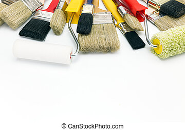 paint brushes and rollers for home renovation - assorted...