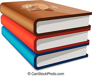 Books stack isolated on white background vector illustration...