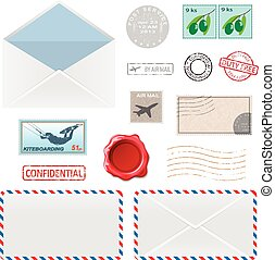 Postal Business Icons - Set of Postal Business Icons,...