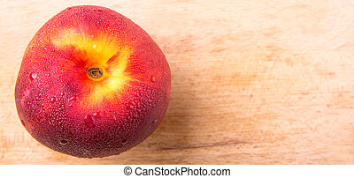 Nectarine Fruit - Nectarine fruit on wooden surface