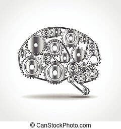 Brain of gears vector illustration