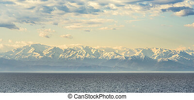 snow-capped peaks of the Caucasus on Black Sea - snow-capped...