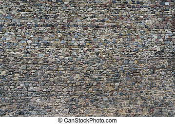 old stonework of fortress wall - old stonework of the...