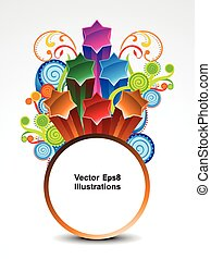 abstract colorful explode circle banner background .eps