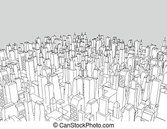 big city vector - Creative design of big city vector