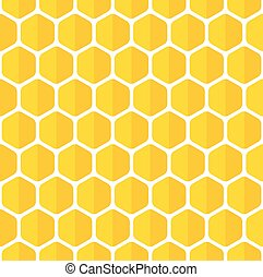 Beautiful honeycomb seamless background. Abstract vector...