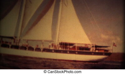 (Super 8 Film) Windjammer Ship - A vintage super 8mm...