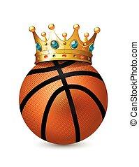 Crown on the basketball Balls - Crown on the basketball...