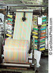circular weaving loom - a polypropylene cloth weaving loom