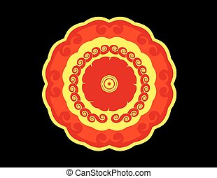 Colour ornamental vector flower