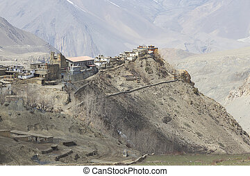 Gompa or Monastry in Jharkot, Mustang district, Nepal. This...