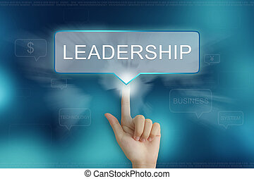 hand clicking on leadership button