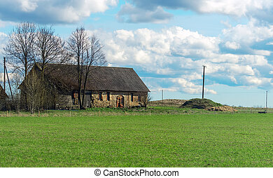 Traditional eastern europe rural house.