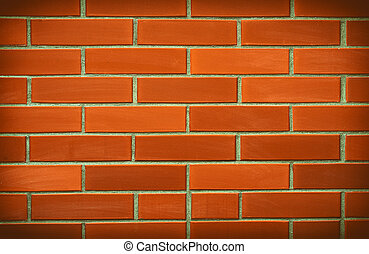 Red brick wall background Horizontal view