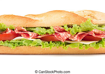 salami and cheese sandwich - sandwich with salami, cheese,...