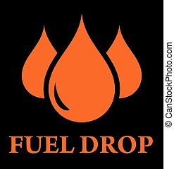 drop of fuel background for oil industry