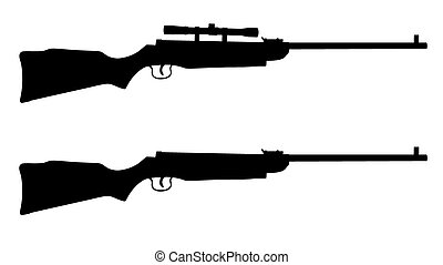 Shotguns - Vector illustration of shotguns silhouettes