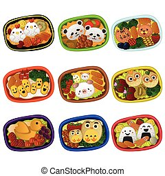 Creative bento for kids - A vector illustration of creative...