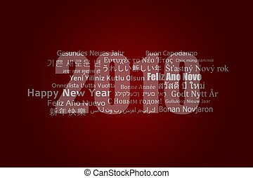 Happy New Year 2010 (incl. paths) - A new year card with...
