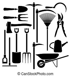 gardening tool equipment - suitable for illustrations