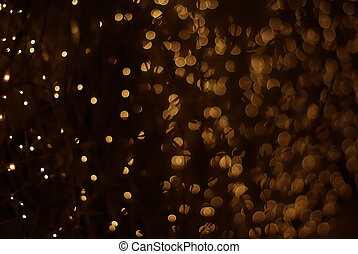 Bokeh lights - Yellow bokeh lights Abstract background