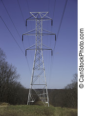 Electrical Tower - The skeletal structure of a high voltage...