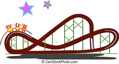 Rollercoaster - Representation of a real rollercoaster with...