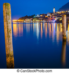 Lake Garda, Town of Limone sul Garda (Lombardy, Italy) at...