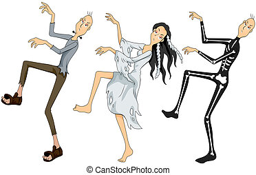 Zombies Dancing with Clipping Path