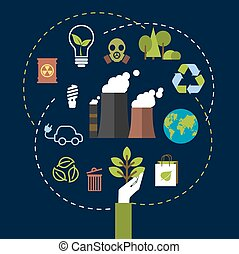 Environmental and ecological conservation concept