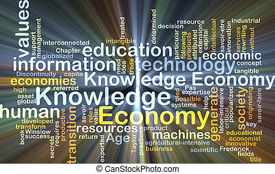 Economy knowledge background concept glowing