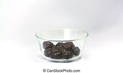 Olives dressing with olive oil - Freshly pressed olive oil...