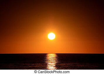 Sunset over Ocean Largs Bay, Adelaide, Australia