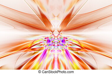 fantastico, arte, movimento, furioso, orizzonte, grafica, Andare, linea, oltre,  fractal,  symmetrically, rosso, lucente