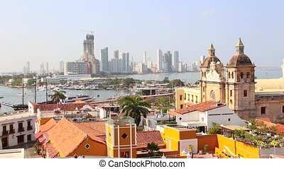 Cartagena, Colombia historic center - View of the historic...
