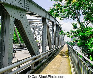 The Truong Tien bridge in Hue in Vietnam