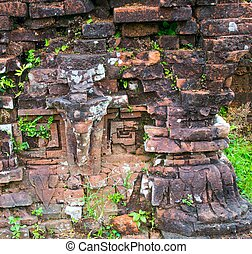 Relief of Hindu Temples at My Son in Vietnam - A UNESCO...