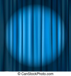 blue curtain theater background